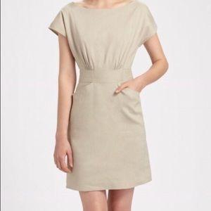 Theory Anderson Shellback Linen Dress Size 12